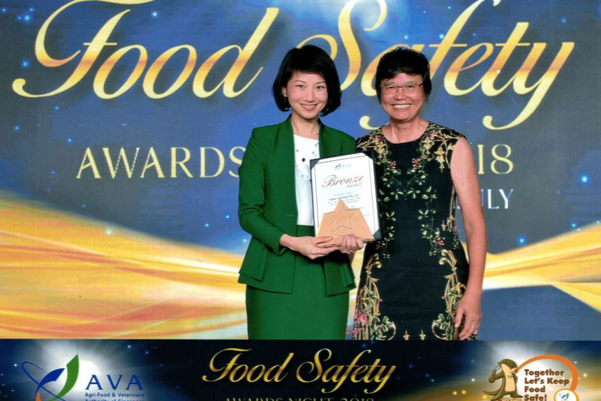 Hong Seafood receives Bronze Award for AVA Food Safety